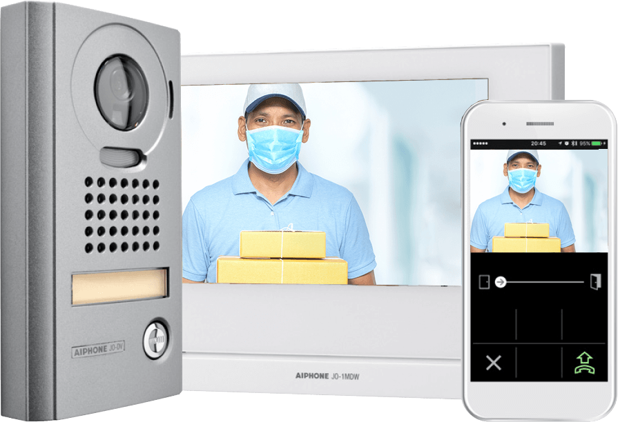 AI Phone devices delivery with mask